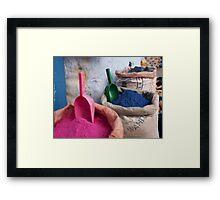Dyes Framed Print