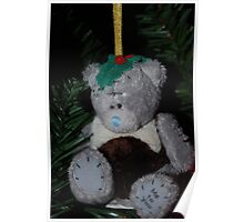 Merry Christmas Pudding Teddy!!! Poster