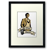 Doctor Who - My first Doctor (Who) fifth 5th Peter Davison Framed Print
