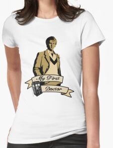 Doctor Who - My first Doctor (Who) fifth 5th Peter Davison Womens Fitted T-Shirt
