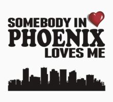 Somebody In Phoenix Loves Me Kids Tee