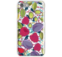 Tribal and Sweet berries seamless iPhone Case/Skin