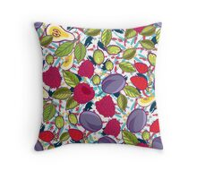 Tribal and Sweet berries seamless Throw Pillow