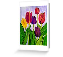 Tulip colours Greeting Card
