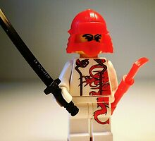 Red Dragon Japanese Samurai Warrior Custom LEGO® Minifigure, by 'Customize My Minifig' by Chillee