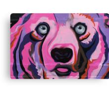 Melbourne Graffiti Street Art Pink Bear Canvas Print