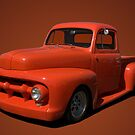 "1952 Ford Pickup Truck ""Pumpkin"" by TeeMack"