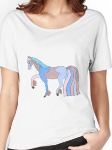 Colourful Pony tee and stickers Women's Relaxed Fit T-Shirt