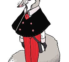 Dapper Dan The Grey Fox Man by samsketchbook