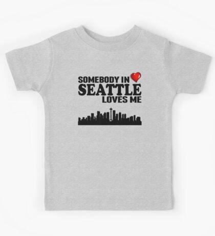 Somebody In Seattle Loves Me Kids Tee