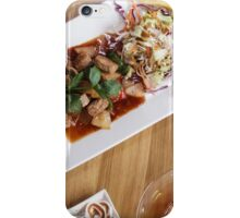 beakfast meal with dessert iPhone Case/Skin