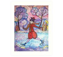 Old Winter Fun Art Print