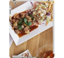 beakfast meal with dessert iPad Case/Skin