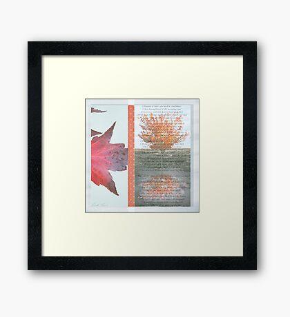 Poetry of Autumn Framed Print
