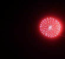 Single Red Firework by Marella May Rogerson