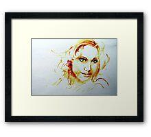 Blue Eyed Girl Framed Print