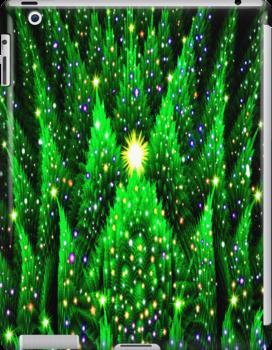 Christmas Tree Heaven iPad Case by Georgia Wild