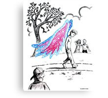 'The Dilemma of Having Wings that do not Fly' Canvas Print
