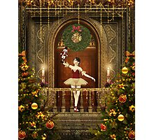 Dancing Ballerina and Nutcracker Photographic Print