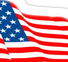 American Flag, Flutter, Fly the flag, Stars & Stripes, America, USA Sticker