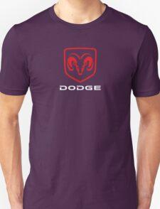 DODGE - Red , White & Black T-Shirt
