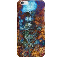Skull and Flowers ( iPad ) iPhone Case/Skin