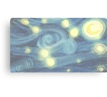 "Van Gogh ""Starry Night"" Doctor Who (pastel version) Canvas Print"