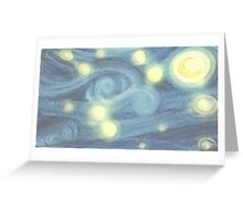 "Van Gogh ""Starry Night"" Doctor Who (pastel version) Greeting Card"