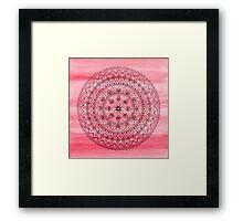 Hand Drawn Delicate Pink Mandala Framed Print