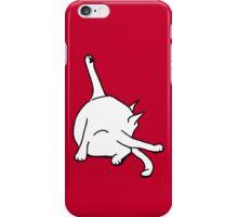 Cat washing bottom iPhone Case/Skin