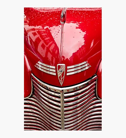 red chevy car abstract Photographic Print