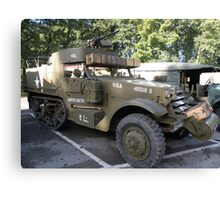 White Half Track. Canvas Print