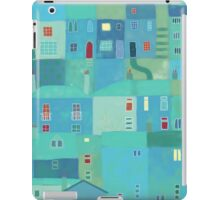 Blue town from the steps iPad Case/Skin