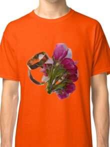 Golden Rings and Spring Flowers Classic T-Shirt