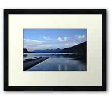 Alpine Serenity and Reflections Framed Print