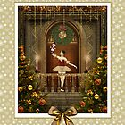 Dancing Ballerina with Nutcracker Card by xgdesignsnyc
