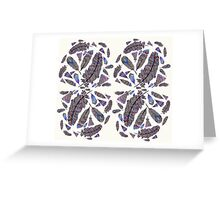 Feather Pattern Greeting Card