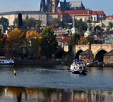 Castle Reflections in Prague by Jennifer Lyn King