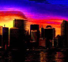 Glitchy City [Original Version] Sticker