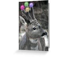 Christmas Deer Cheer Greeting Card