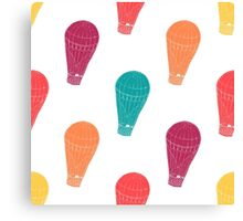 Pattern with hot air balloons Canvas Print