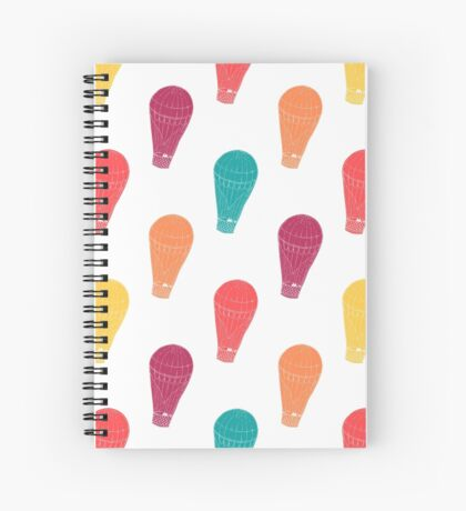 Pattern with hot air balloons Spiral Notebook