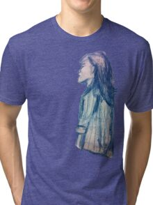 She Had Blue Hair, But, Damn, She Looked Good Tri-blend T-Shirt