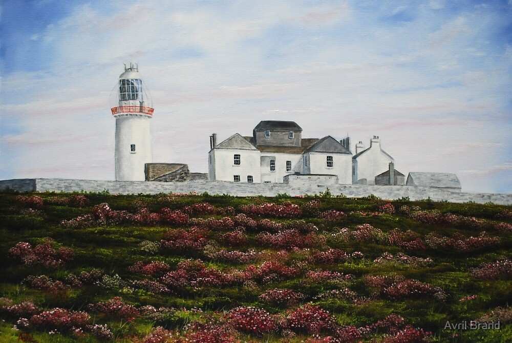 Loop Head Lighthouse, County Clare - oil painting by Avril Brand
