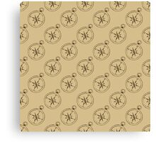 Pattern with compasses Canvas Print