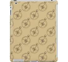 Pattern with compasses iPad Case/Skin
