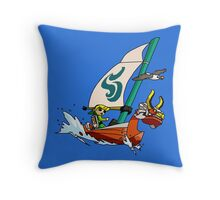 """Cell shaded """"The Wind Waker"""" Throw Pillow"""