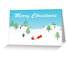 Winter snow scene Greeting Card