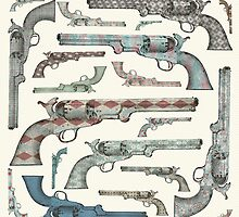Happy Vintage Pistols by BelleFlores