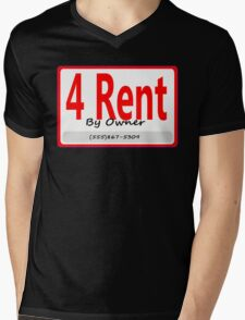4 Rent Mens V-Neck T-Shirt